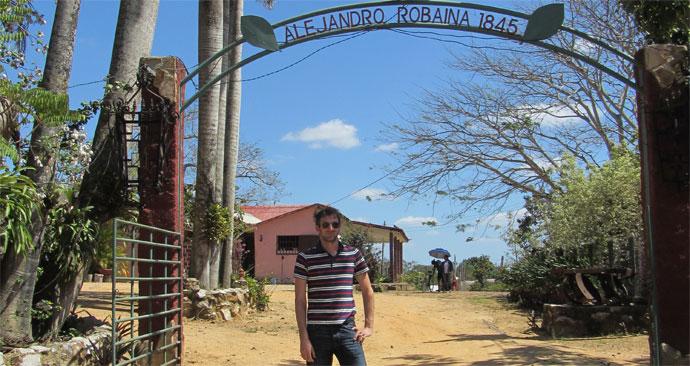 Vegas Robaina Zigarren Eingang zur Hacienda auf Kuba