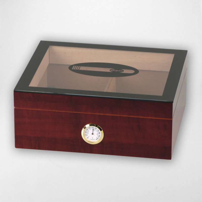 Glasdeckel-Humidor Cigar