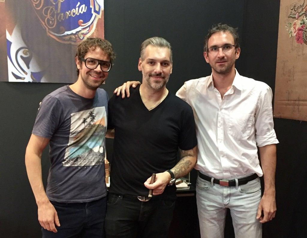 Pete Johnson mit Martin Geisler und Sebastian Gollas