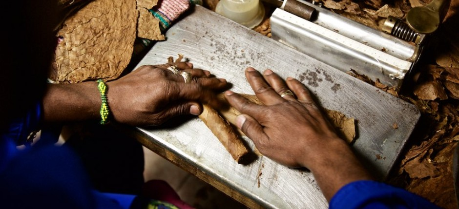 Frisch gerollte Zigarren aus Kuba
