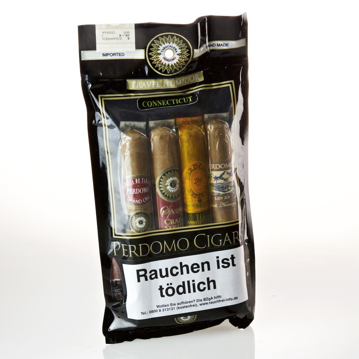 Perdomo Travel Humidor Connecticut 4er-Pack